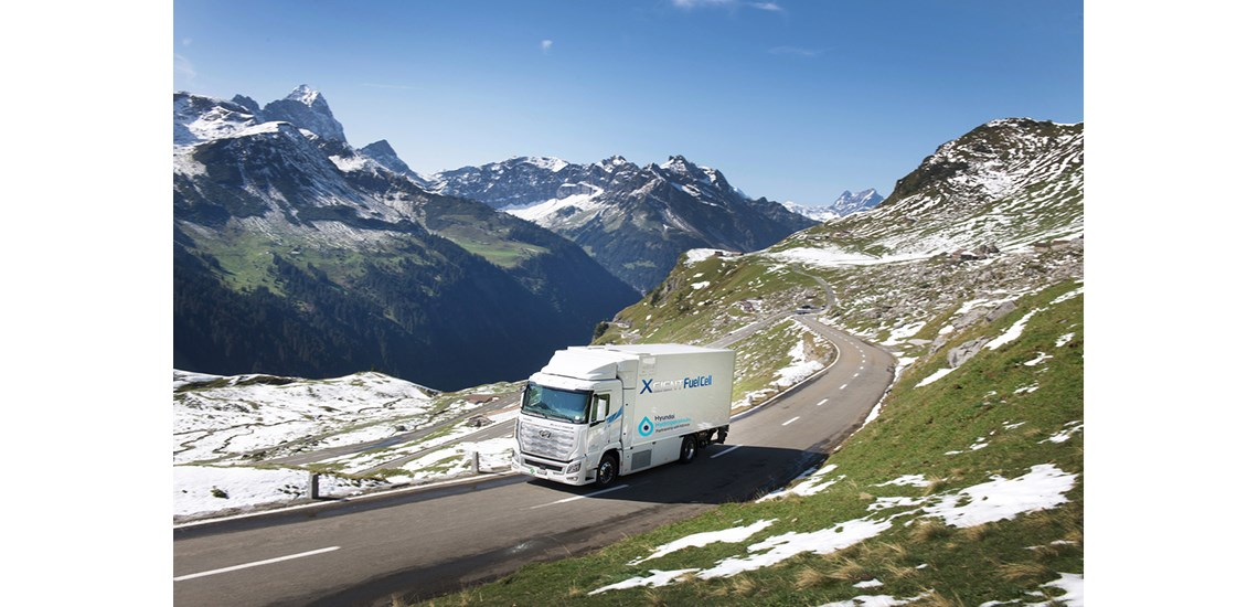 Fuel Cell Trucks in the Alps