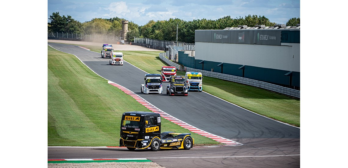 Giti Tire truck racing at Donnington Park
