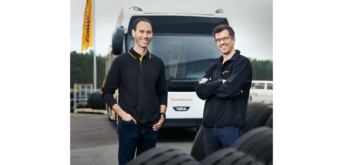 Ben Hudson y Michael Koch from the Development Department for Continental Truck Tires.