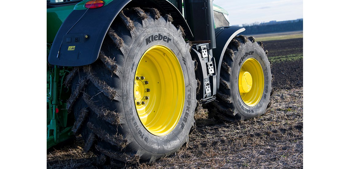 Topker IF agricultural tyre by Kleber